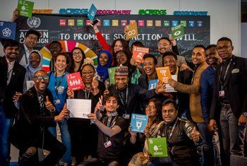 Participants at the 2018 Global Festival of Action for Sustainable Development, in Bonn, Germany.