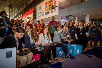Participantes del Festival Global de Acción para el Desarrollo Sostenible en Bonn, Alemania.