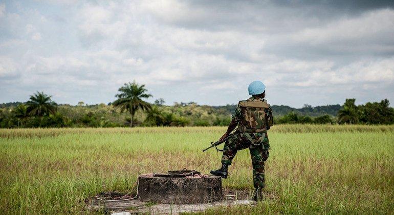 在利比里亚服役的加纳籍维和人员。