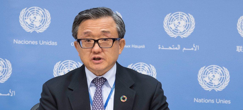 O secretário-geral adjunto para os Assuntos Económicos e Sociais, Liu Zhenmin.