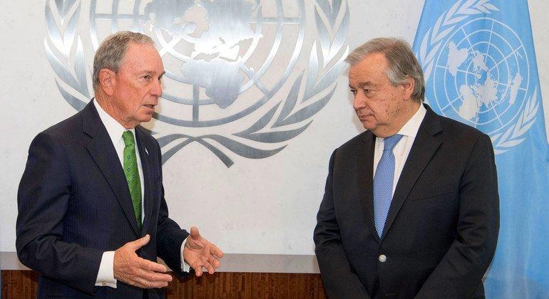 Генеральный секретарь ООН Антониу Гутерриш встретился со своим Специальным посланником по климату Майклом Блумбергом