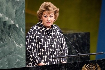 Embaixadora da Irlanda junto à ONU, Geraldine Byrne Nason.