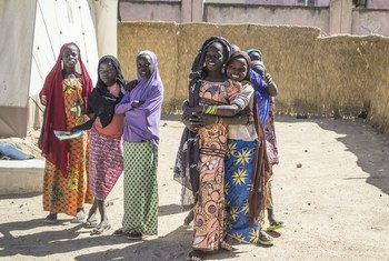 Teenage girls at a displacement camp in Gwoca LGA, Borno State, Nigeria.