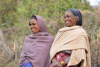 Two women, members of an IFAD-supported leasehold forestry community project in Dadeldhura, western Nepal.