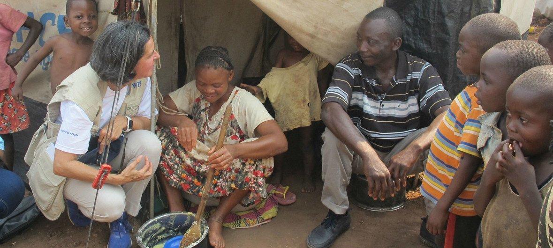 Lola Castro, directora regional para el sur de África del Programa Mundial de Alimentos, en Angola