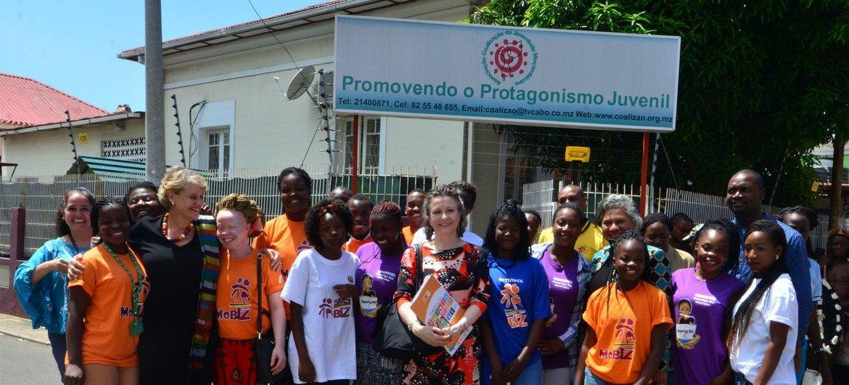 Visita da diretora-executiva adjunta do Unfpa à Associação Coalizão.