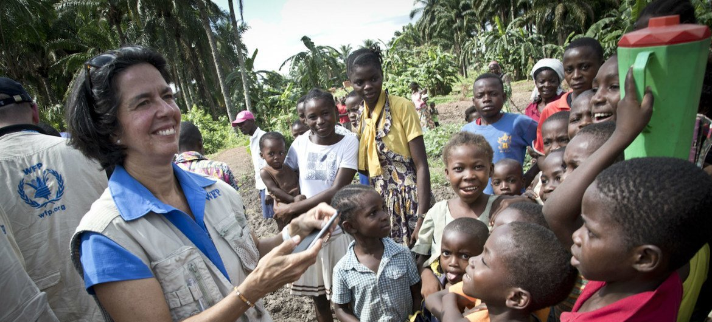 Lola Castro, directora regional para el sur de África del Programa Mundial de Alimentos, en la República Democrática del Congo
