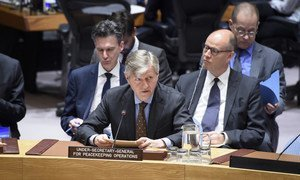 Jean-Pierre Lacroix, Under-Secretary-General for Peacekeeping Operations, addresses the Security Council meeting on the situation in Haiti.