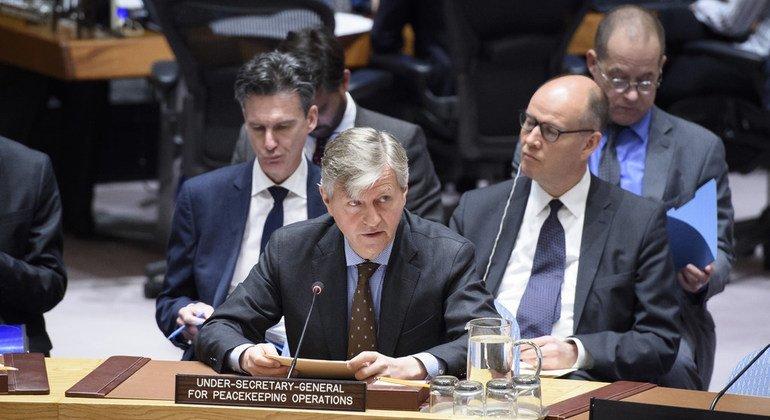 Jean-Pierre Lacroix, Secretario General Adjunto de Operaciones de Mantenimiento de la Paz, se dirige al Consejo de Seguridad sobre la situación en Haití