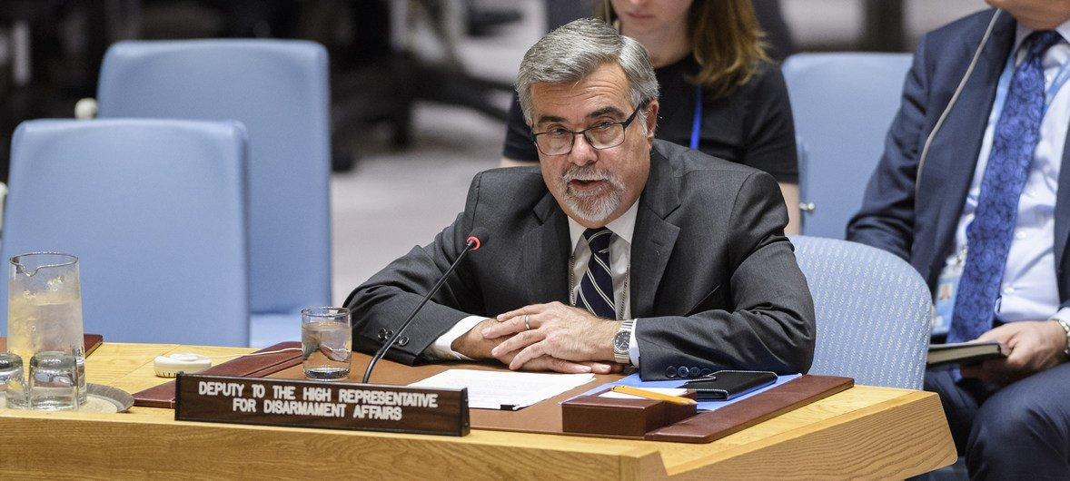Thomas Markram, Deputy to the UN High Representative for Disarmament Affairs addresses the Security Council.