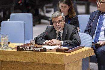 توماس ماركرام  نائب الممثلة السامية لشؤون نزع السلاح يتحدث أمام مجلس الأمن الدولي