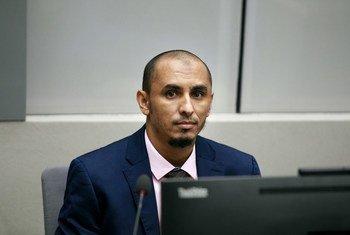 Al Hassan akiwa mbele ya mahakama ya ya kimataifa ya uhalifu, ICC mnamo Aprili 4, 2018