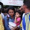 巴西北部博阿·维斯塔的委内瑞拉难民。