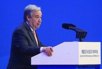الأمين العام أنطونيو غوتيريش يلقي كلمة في افتتاح المؤتمر السنوي لمنتدى بواو لآسيا