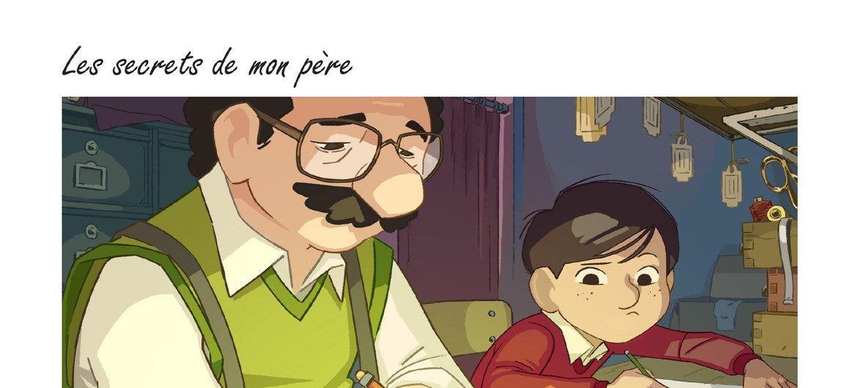 根据基什卡绘本小说改编的动画影片《父亲的秘密》剧照。该片由法国导演贝尔蒙特(Véra Belmont)改编并执导,法国JSBC公司制作,将于明年上映。