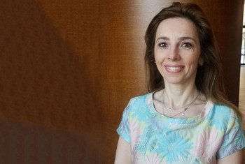 Monica Ferro, mkurugenzi wa UNFPA Geneva akiwa  kwenye mkutano wa kikanda wa  WHO mjini Coimbra, Ureno