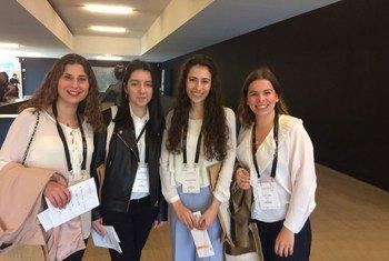 Estudantes de farmácia, em Coimbra, durante o encontro.