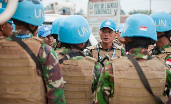 Soldados de paz da Minusca.