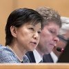 Izumi Nakamitsu, Under-Secretary-General and High Representative for Disarmament Affairs addresses the opening session of the Treaty of the Non-Proliferation of Nuclear Weapons in Geneva.