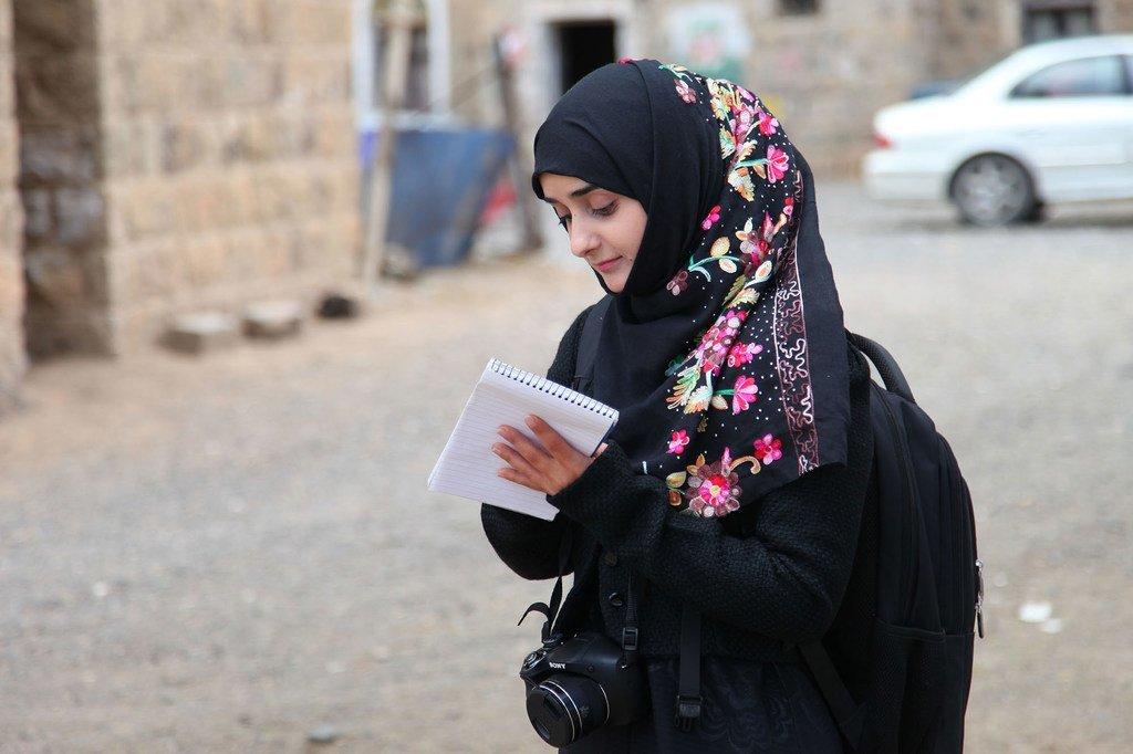 La journaliste yéménite Safia Mahdi