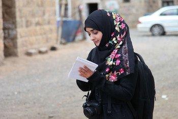 Yemeni journalist Safia Mahdi.