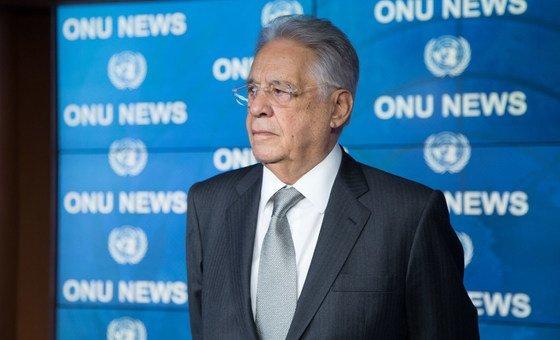 Ex-presidente do Brasil Fernando Henrique Cardoso na ONU