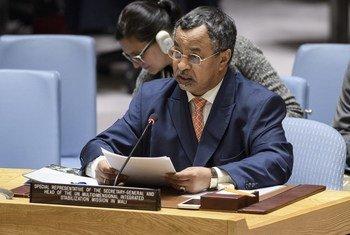 Mahamat Saleh Annadif devant le Conseil de sécurité (archives). Le Tchadien sera le prochain Représentant spécial de l'ONU pour l'Afrique de l'Ouest et le Sahel.