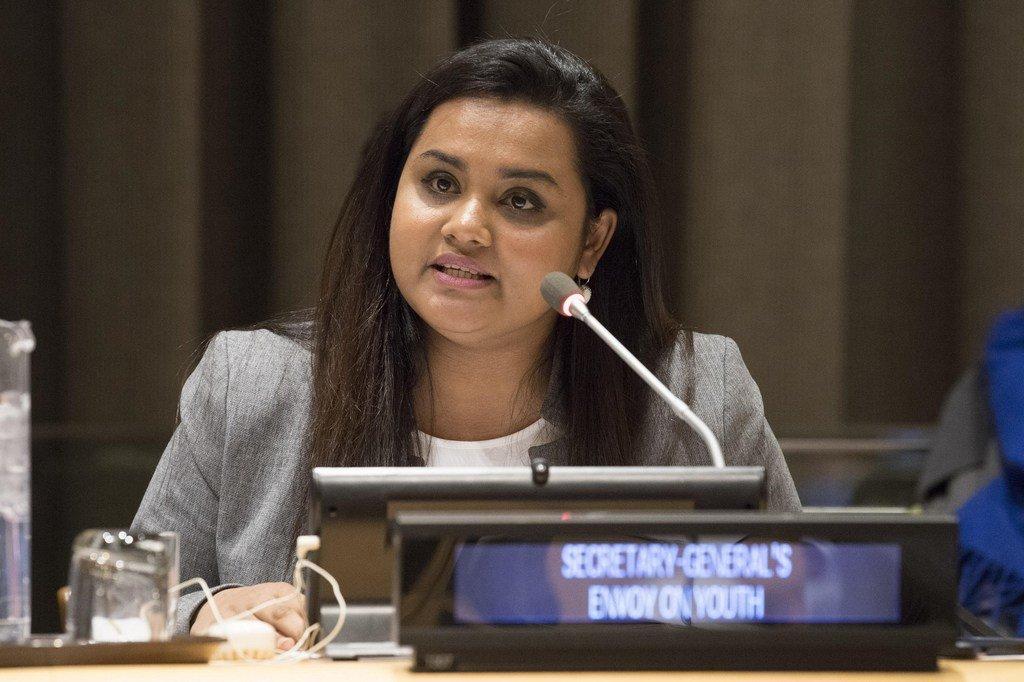 Jayathma Wickramanayake, l'Envoyée du Secrétaire général pour la jeunesse.