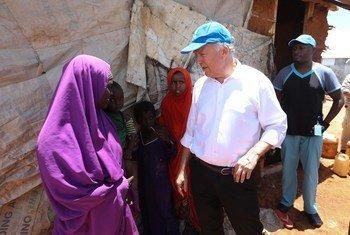 Michael Keating esteve na Somália em Abril.
