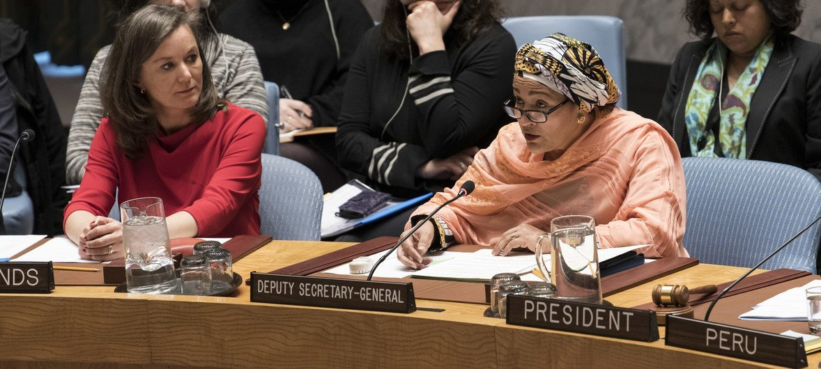 Vice-secretária-geral, Amina Mohammed.