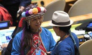 Делегаты 17-ой сессии Постоянного форума ООН по вопросам коренных народов