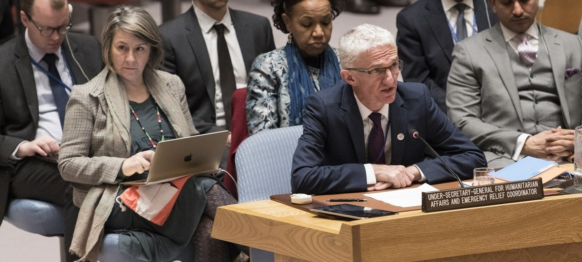 联合国负责人道援助事务的副秘书长洛科克今天在安理会就也门人道局势进行通报。