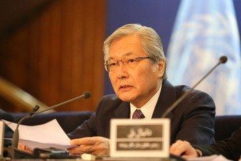 Tadamichi Yamamoto, le Représentant spécial du Secrétaire général pour l'Afghanistan.