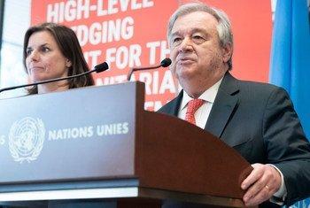 Secretário-geral António Guterres na Conferência de Doadores para o Iêmen.