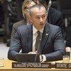 Le Coordonnateur spécial de l'ONU pour la processus de paix au Moyen-Orient lors d'une réunion au Conseil de sécurité (archives).