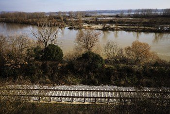 Train tracks alongside the river Evros land crossing from Turkey to Greece. At least eight people have died attempting to make the crossing since the start of 2018. The areas only reception centre in filled to capacity and struggling to cope with registration.