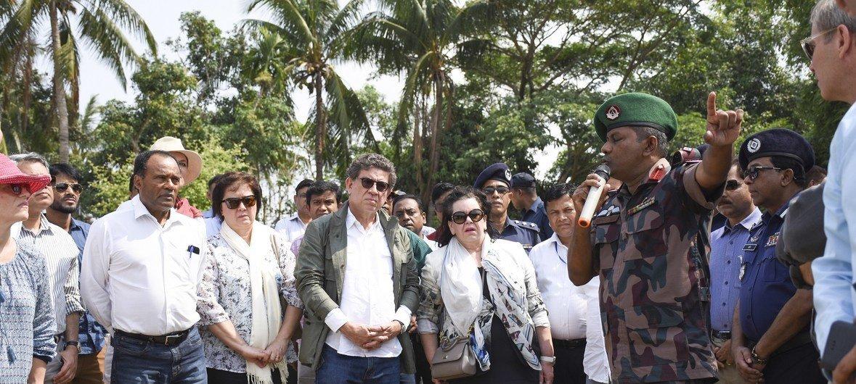 Wajumbe wa Baraza la Usalama la Umoja wa Mataifa wamezuru makazi ya Kutupalong yanayohifadhi wakimbizi wa Rohingya huko Cox's Bazaar nchini Bangladesh