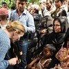 Membros do Conselho de Segurança visitaram o campo de Kutupalong este domingo.