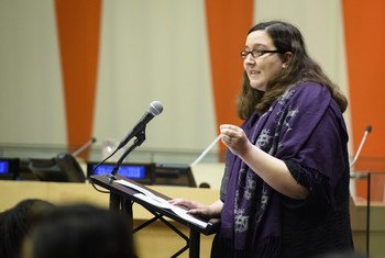 Julia Bascom, Executive Director of the Autistic Self Advocacy Network, delivers keynote address to the special event