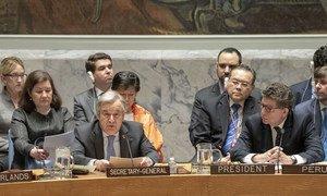 António Guterres no Conselho de Segurança, nesta sexta-feira.
