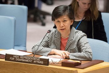 Izumi Nakamitsu, Under-Secretary-General and High Representative of the UN Office for Disarmament Affairs addresses the Security Council meeting on the Salisbury incident in the United Kingdom.