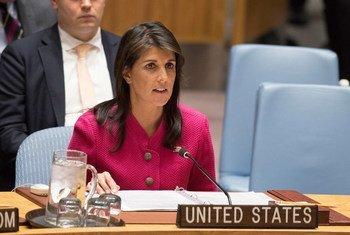 美国常驻联合国代表黑利。