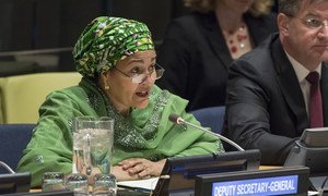 Deputy Secretary-General Amina Mohammed addresses the Economic and Social Council's third Financing for Development follow-up Forum.
