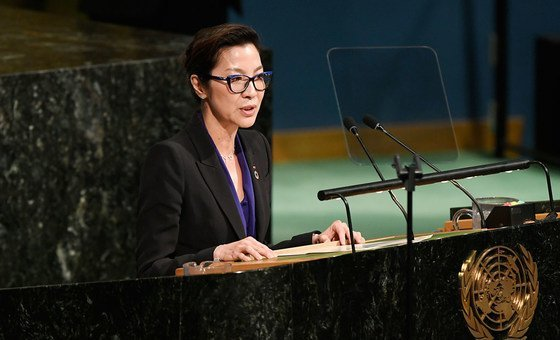 Actor and UNDP Goodwill Ambassador, Michelle Yeoh (file)