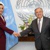 الأمين العام أنطونيو غوتيريش يلتقي الشيخة موزا بنت ناصر رئيسة مؤسسة التعليم فوق الجميع.