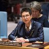 La Sous-Secrétaire générale des Nations Unies aux affaires humanitaires, Ursula Mueller, devant le Conseil de sécurité.