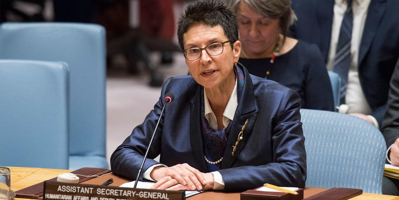 من الأرشيف: مساعدة الأمين العام للشؤون الإنسانية أورسولا مولر.
