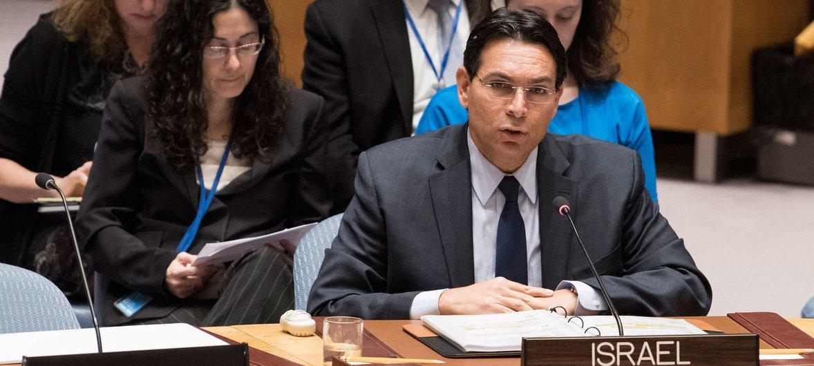 السفير الإسرائيلي لدى الأمم المتحدة داني دانون.