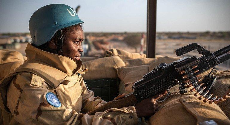 在马里,布基纳法索特遣队约有38名妇女。