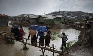 Беженцы-рохинджа в лагере Балукхали, Кокс-Базар, Бангладеш.